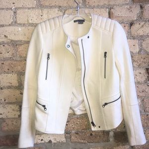 Vince cream wool and polyester jacket